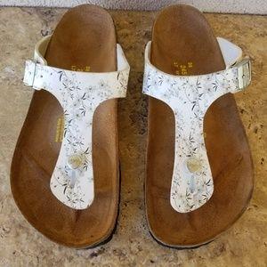 Birkenstock Papillio White Floral Sandals 38